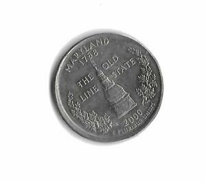 2000D MARYLAND STATEHOOD QUARTER OFF CENTER OBVERSE AND REVERSE