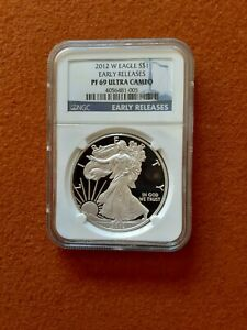2012 W PROOF SILVER EAGLE NGC PF 69 ULTRA CAMEO EARLY RELEASE