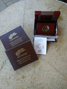 2008 W AMERICAN GOLD BUFFALO PROOF  BOX ONLY AND COA & ORIGINAL CAP  1/2 OZ  25$