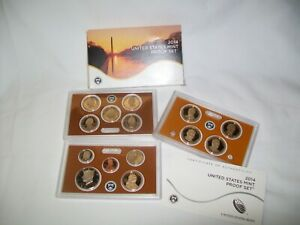 2014 S UNITED STATES MINT PROOF SET IN ORIGINAL BOX WITH COA