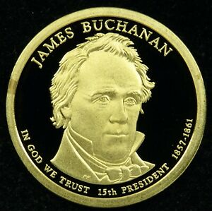 2010 S DEEP CAMEO PROOF JAMES BUCHANAN PRESIDENTIAL DOLLAR  C01