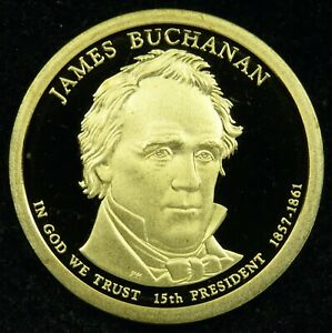 2010 S DEEP CAMEO PROOF JAMES BUCHANAN PRESIDENTIAL DOLLAR  C02
