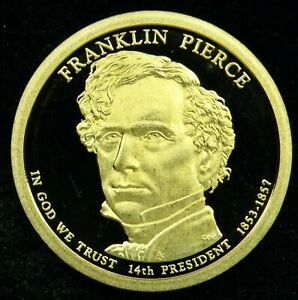2010 S DEEP CAMEO PROOF FRANKLIN PIERCE PRESIDENTIAL DOLLAR  C03