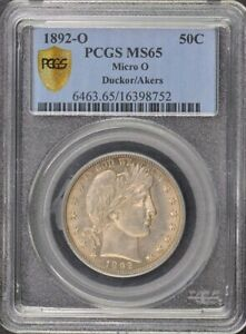 Click now to see the BUY IT NOW Price! 1892 O 50C MICRO O BARBER HALF DOLLAR PCGS MS65