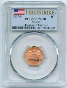 2017 S 1C LINCOLN CENT ENHANCED PCGS SP70 FIRST STRIKE
