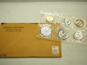 1960 US PROOF SET FLAT PACK UNITED STATES 90  SILVER COINS LARGE DATE