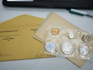 1960 SMALL DATE U.S. COINS  5  PROOF SET FLAT PACK