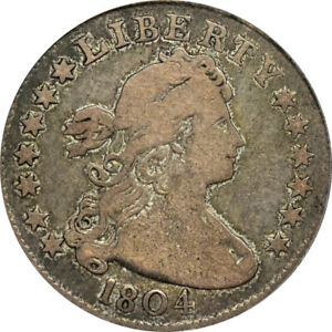 Click now to see the BUY IT NOW Price! 1804 25C B 2 R.5 PCGS F15 CAC