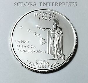 2008 S HAWAII   90  SILVER PROOF   STATE QUARTER