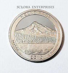 2010 S MOUNT HOOD  90  SILVER PROOF  QUARTER