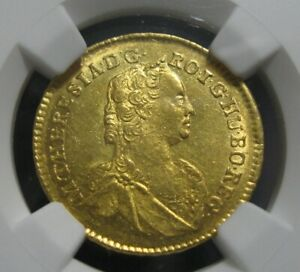 Click now to see the BUY IT NOW Price! 1757 HUNGARY TRANSYLVANIA DUCAT GOLD DUKAT NGC MS62 UNCIRCULATED GEM