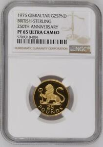 Click now to see the BUY IT NOW Price! 1975 GIBRALTAR 25 POUNDS GOLD PROOF NGC PF65 ULTRA CAMEO LION