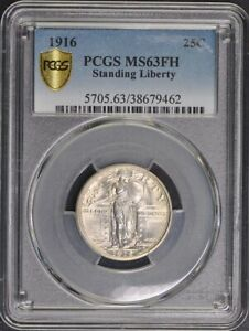 Click now to see the BUY IT NOW Price! 1916 25C STANDING LIBERTY QUARTER PCGS MS63FH