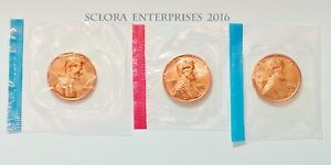 1972 P D S LINCOLN MEMORIAL CENT / PENNY SET  MINT CELLO