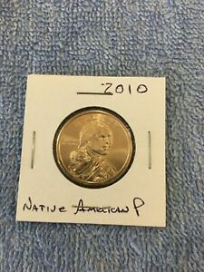 US ONE DOLLAR COIN NATIVE AMERICAN 2010 P FROM MINT ROLL $1 COIN USA