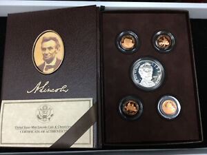 2009 UNITED STATES MINT LINCOLN COIN & CHRONICLES SET ORIGINAL BOX AND COA