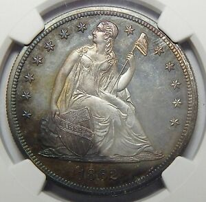 Click now to see the BUY IT NOW Price! 1862 NGC PF67 CAMEO SEATED LIBERTY DOLLAR   FABULOUS TONING