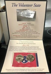 2002 US MINTED QUARTER DOLLAR NUMBERED 16 OF 50 COIN SET SEALED TENNESSEE
