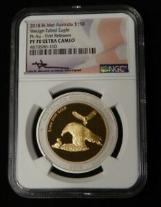 Click now to see the BUY IT NOW Price! 2018 AUSTRALIA $150 1.5 OZ BI METAL WEDGE TAILED EAGLE NGC PF70 ULTRA CAMEO