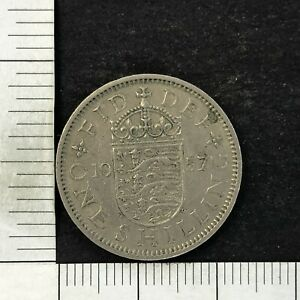 UK 1 ONE SHILLING 1957 GREAT BRITAIN FOREIGN COIN
