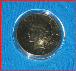 1925 PEACE SILVER DOLLAR GOLD PLATED  TARNISHED BUT SHARP