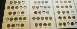 BUFFALO NICKELS COLLECTION  1913   1938 D  54 COINS  NO ACID