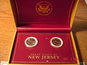 1999 NEW JERSEY QUARTERS P D UNITED STATES MONETARY EXCHANGE  IN CASE