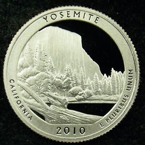 2010 S DEEP CAMEO CLAD PROOF AMERICA THE BEAUTIFUL YOSEMITE QUARTER  C03