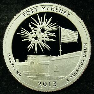 2013 S DEEP CAMEO CLAD PROOF AMERICA THE BEAUTIFUL FORT MCHENRY QUARTER  C03
