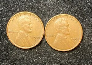 1952 & 1953 S LINCOLN WHEAT PENNIES
