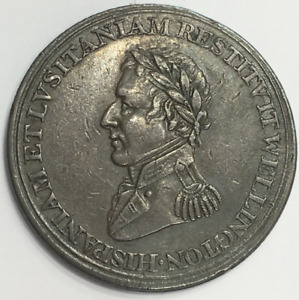 GREAT BRITAIN WELLINGTON 1812 PENINSULA WARS HALFPENNY TOKEN
