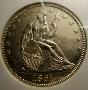 NGC UNCIRCULATED 1861 O CSA  CONFEDERATE STATES ISSUE  SEATED LIBERTY 50  W 13