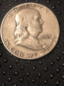 1953 D FRANKLIN 90  SILVER ERROR? HALF DOLLAR