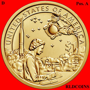 2019 D  NATIVE AMERICAN UNCIRCULATED DOLLAR POSITION A   INDIAN IN SPACE