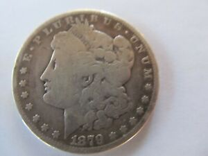 1879 S SILVER MORGAN DOLLAR LOW GRADE UNGRADED $1 COIN