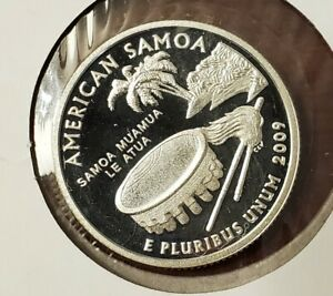 2009 S AMERICAN SAMOA SILVER PROOF TERRITORIES QUARTER