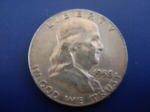 VERY NICE ORIGINAL 1958 FRANKLIN HALF. 1