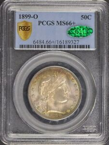 Click now to see the BUY IT NOW Price! 1899 O 50C BARBER HALF DOLLAR PCGS MS66   CAC