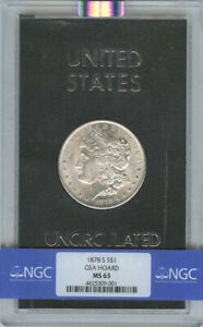 Click now to see the BUY IT NOW Price! 1878 S MORGAN DOLLAR GSA HOARD S$1 NGC MS63 FINEST