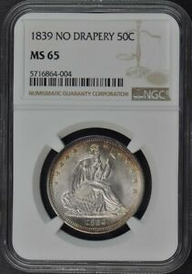 Click now to see the BUY IT NOW Price! 1839 NO NO DRAPERY SEATED LIBERTY HALF DOLLAR 50C NGC MS65