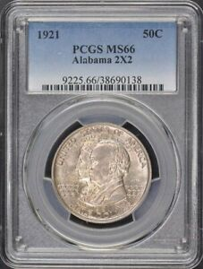 Click now to see the BUY IT NOW Price! ALABAMA 2X2 1921 50C SILVER COMMEMORATIVE PCGS MS66