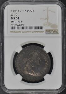 Click now to see the BUY IT NOW Price! 1796 15 STARS DRAPED BUST SMALL EAGLE O 101 50C NGC MS64
