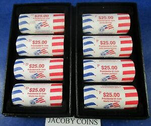 Click now to see the BUY IT NOW Price! 2008 P & D PRESIDENTIAL DOLLAR MINT ROLLS   8 ROLL SET   IN MINT BOXES