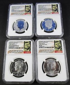 Click now to see the BUY IT NOW Price! 2014 D W P S  SILVER KENNEDY 50TH ANNIVERSARY HIGH RELIEF ER NGC PF69 SP69 PL
