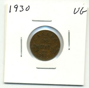 COINS. CANADA. ONE CENT. 1930 GOOD