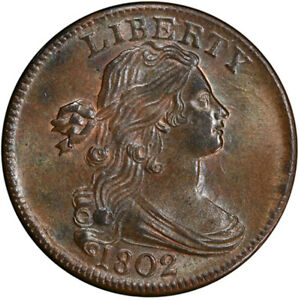 Click now to see the BUY IT NOW Price! 1802 1C S 232 R.2 PCGS MS64 BN CAC