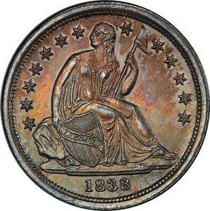 Click now to see the BUY IT NOW Price! 1838 LARGE STARS 10C PCGS MS65