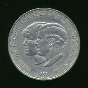 1981 HRH PRINCE OF WALES AND LADY DIANA SPENCER ROYAL WEDDING COMMEMORATIVE COIN