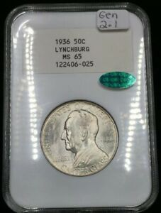 Click now to see the BUY IT NOW Price! 1936 MS65 NGC 2.1  CAC  LYNCHBURG SESQUICENTENNIAL COMMEMORATIVE 50C    SLAB