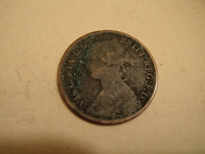 1866 GREAT BRITAIN 1 FARTHING   BAD CONDITION